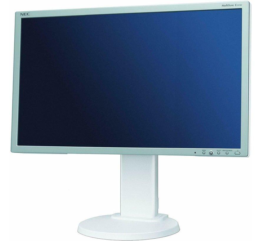 "NEC 23 ""MultiSync E231W 58.4 cm monitor LCD de 23 pulgadas blanco"