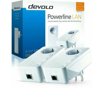 DEVOLO 9376 DLAN 1200+ STARTER KIT POWERLINE SET 2 STÜCK & STECKDOSE