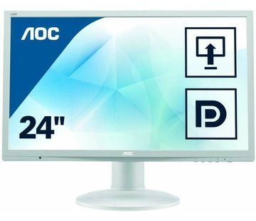 "AOC AOC 24 ""2460 61 cm 24 inch monitor VGA DVI monitor display white"