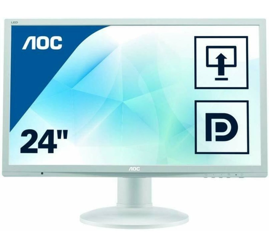 "AOC 24 ""2460 61 cm 24 inch monitor VGA DVI monitor display white"