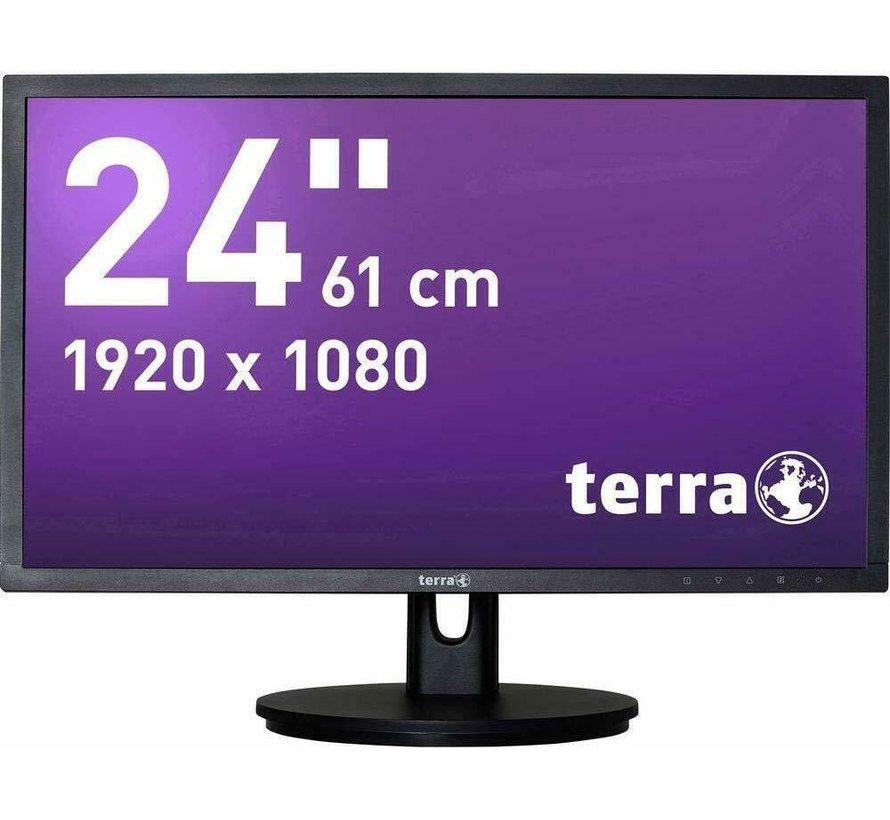 Terra Wortmann AG 2435WHA 24 Black Full HD Monitor Display schwarz