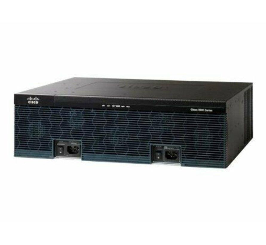 Enrutador de servicio CISCO 3925 3925 / K9 + C3900-SPE200 / K9 1x PSU / fuente de alimentación