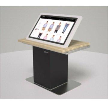 "Terminal en línea con monitor táctil de 32 ""Reproductor de PC Impresora de recibos Escáner de código de barras"