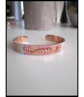 Hebbez Rood-Gouden Hebbez Armband