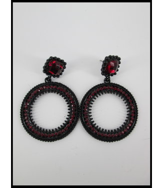 Rode Steentjes Oorbellen
