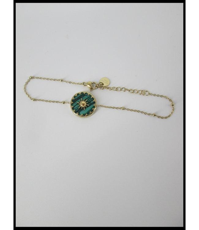 merkloos Grün Armband