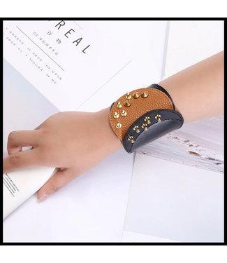 merkloos Leatherlook Armband
