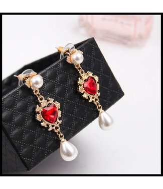 merkloos Red Earring