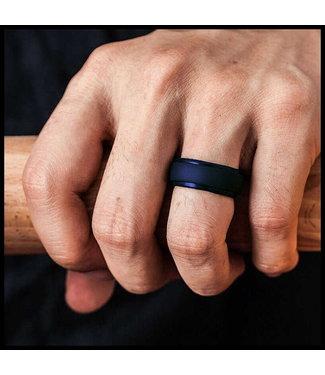 merkloos Donkerblauwe ring