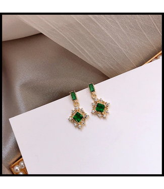 merkloos Green Earring