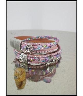 merkloos Rosa Armband