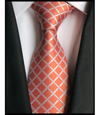 merkloos Orange Krawatte
