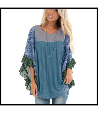 merkloos Blue Tunic