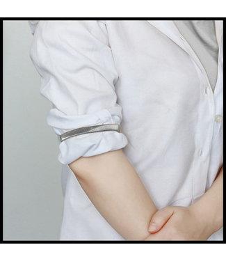 merkloos Grau Halskette