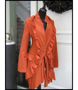 merkloos Orange Coat
