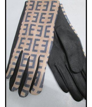 merkloos Schwarz Handschuh