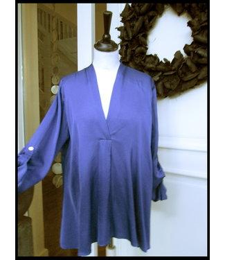 merkloos Blau Bluse