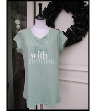 merkloos Grün Shirt