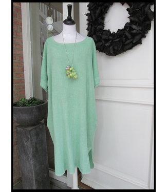 merkloos Grün Kleid