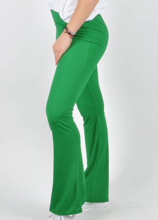 Lily flare pants green
