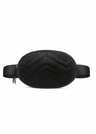 Belt bag velvet zwart