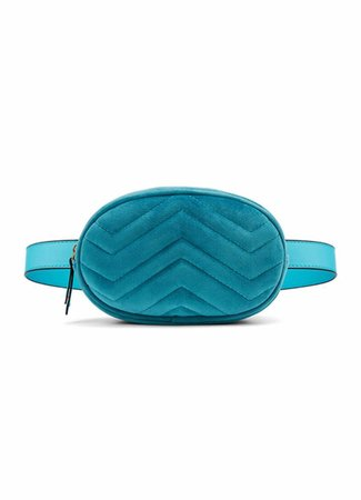 Belt bag velvet blauw