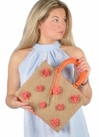 Flower bag oranje