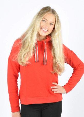 Louise hoodie red