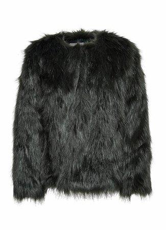 Fenya fake fur jacket green