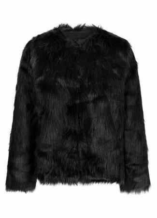 Fenya fake fur jacket black