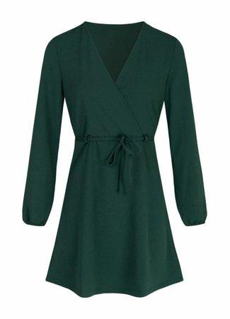 Lau belt dress green
