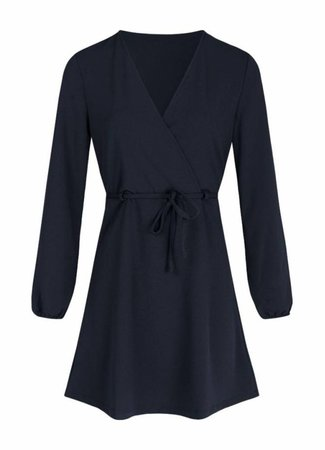 Lau belt dress blue
