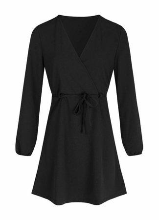 Lau belt dress black