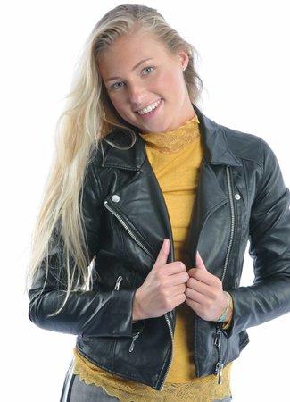 Esma short leather jacket