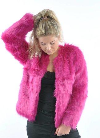 Fenya fake fur jacket pink