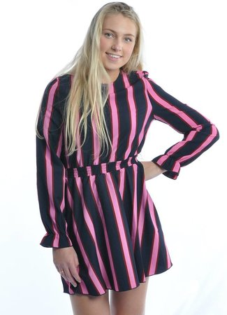 Maison Runway Maison Runway stripe dress