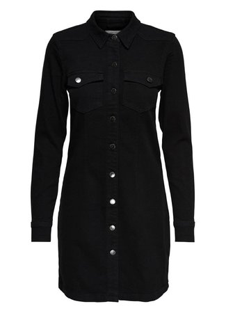 Juicy denim dress black