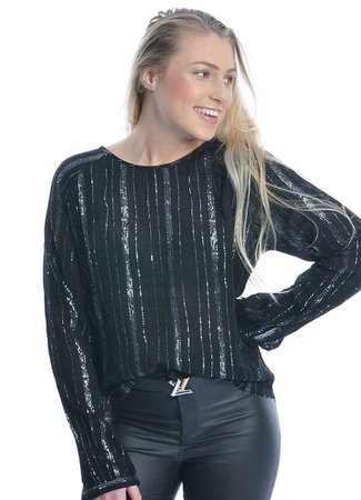 Helena top silver