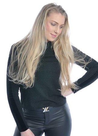 Veena top black