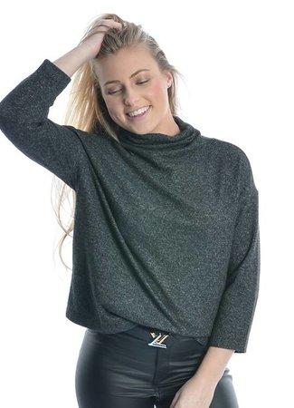 Fleece top dark grey