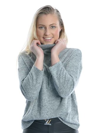 Fleece top light grey