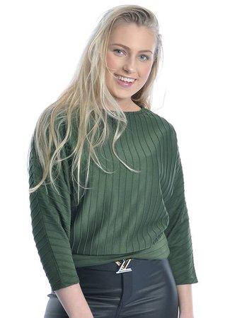Somila top green