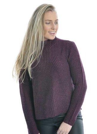 Justy sweater purple