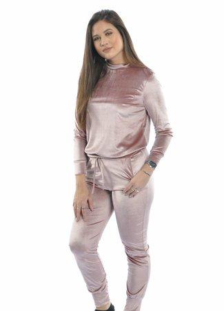 Velvet set pink
