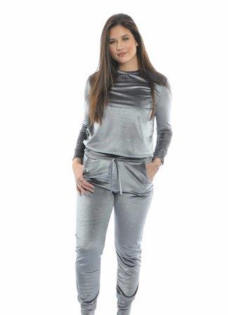 Velvet set grey