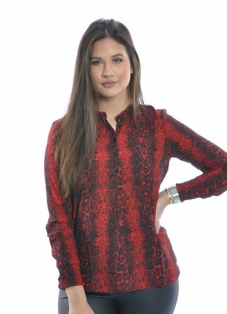 Snakey blouse red