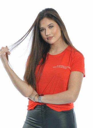 Noor top red