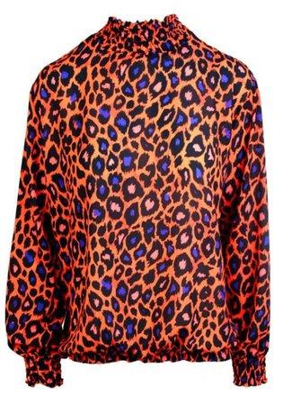 Lulu blouse orange