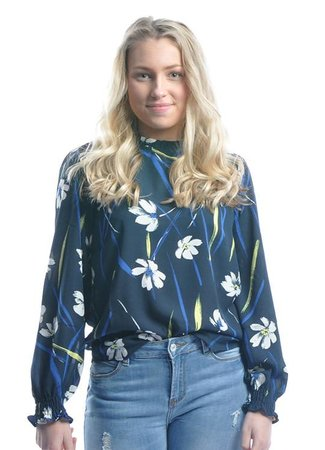 Innes blouse flower
