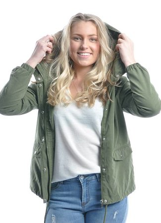 Shine jacket green